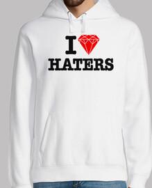 I Love Haters Diamante