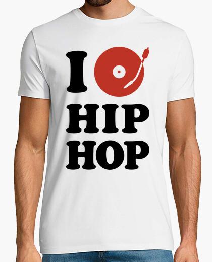 Camiseta I Love Hip Hop (Blanco)