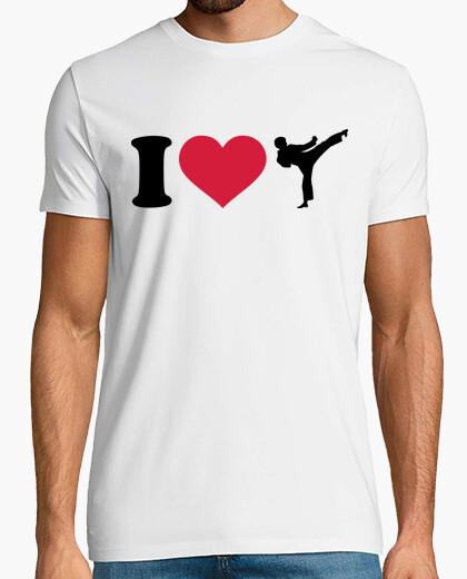 T-Shirt i love karate kickboxen