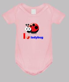 I love ladybug body bebé rosa