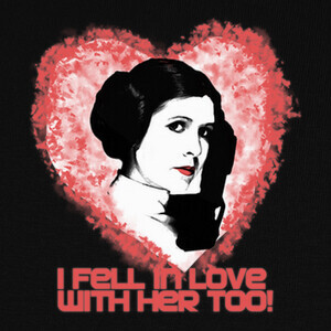 Camisetas I love Leia