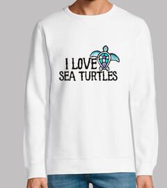 i love les tortues de mer
