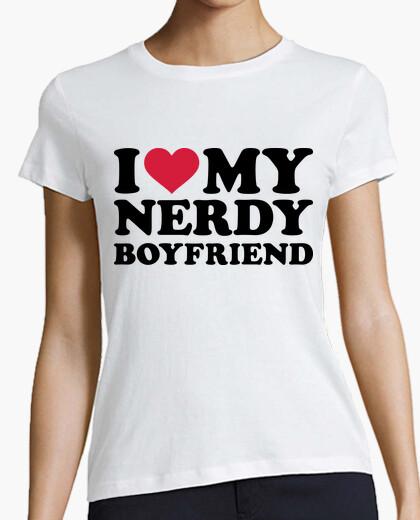 T-Shirt i love meinen nerdy freund
