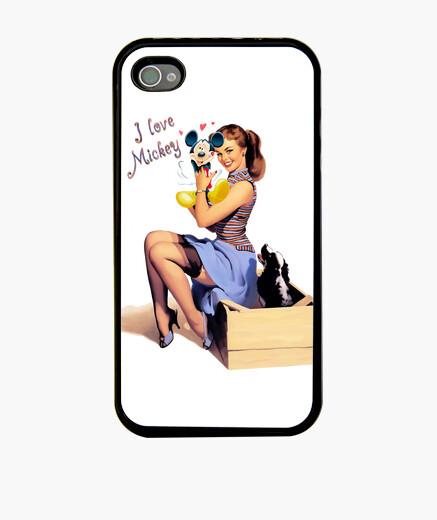 Funda iPhone I love Mickey