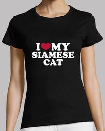 i love mon chat siamois