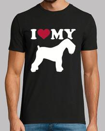 i love mon terrier russe noir