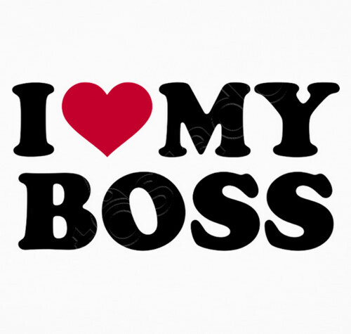 I Love My Boss T Shirt