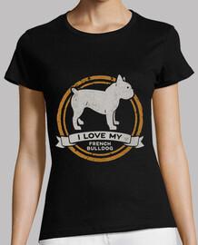 I love my French Bulldog - Bulldog fran