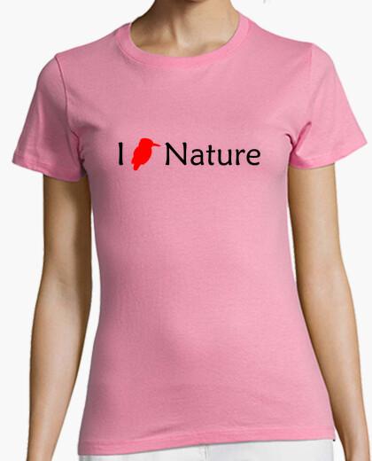 Camiseta I Love Nature (Rojo Mujer)