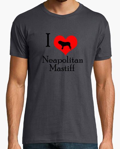 Camiseta I love neapolitan mastiff