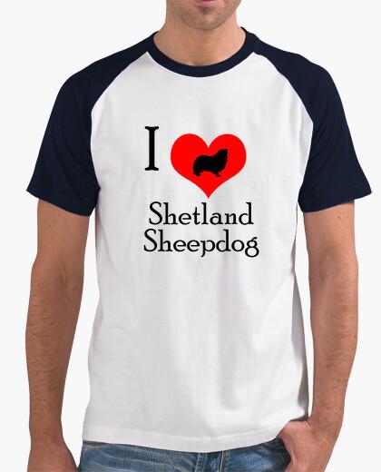 Camiseta I love shetalnd sheepdog