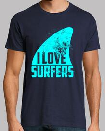 I LOVE SURFERS - CYAN