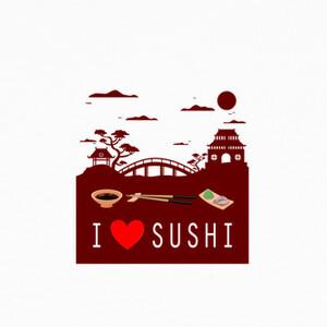 T-shirt I love sushi