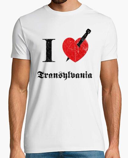 Camiseta I love Transylvania (negro erosionado fu
