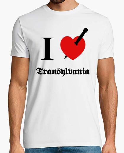 Camiseta I love Transylvania (negro fuente)