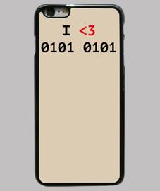 I love U Funda iPhone 6 Plus, negra