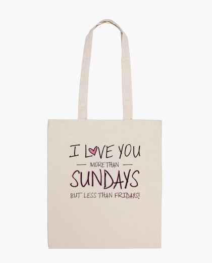 Bolsa I love you more than Sundays