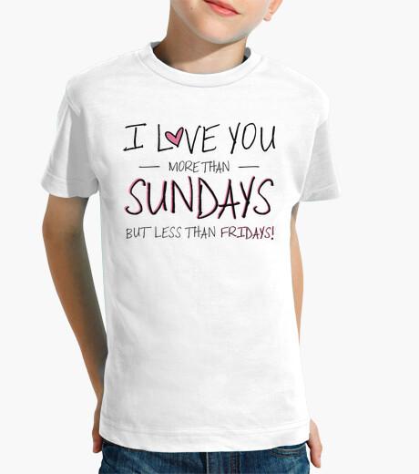 Ropa infantil I love you more than Sundays