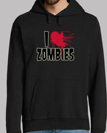 I love zombies - Sudadera chico