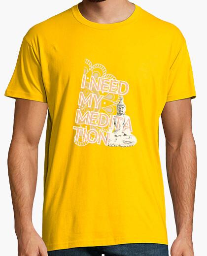 I need my meditation man t-shirt
