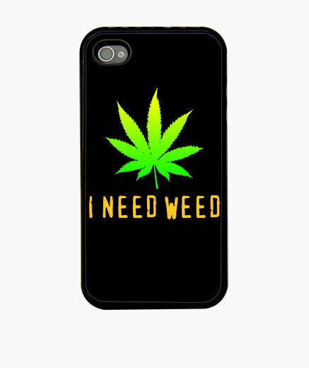 Funda iPhone I need weed