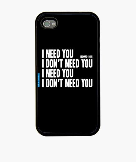 Funda iPhone I need you 0001