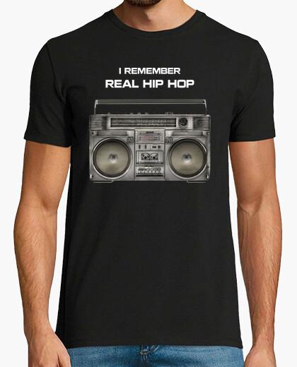 Camiseta I Remember Real Hip Hop (Yo recuerdo el Hip Hop Real)