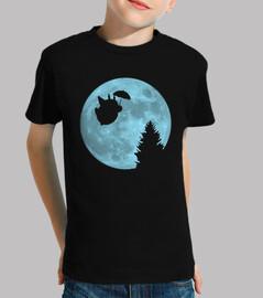 i totoro flying under the moon