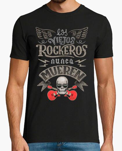 T-shirt i vecchi rockers non muoiono mai