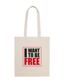 I WANT TO BE FREE BLACK BOLSA