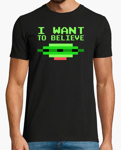 Camiseta I Want To Believe Atari Style