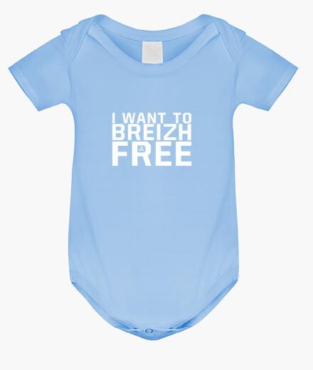 Vêtements enfant I want to breizh free