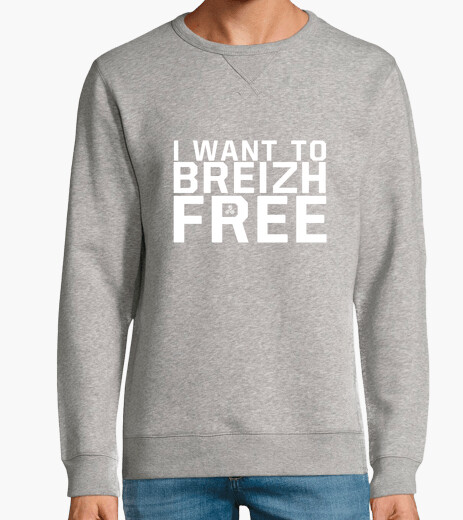 I want to breizh free - homme sweat léger