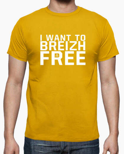 I want to breizh free - t-shirt