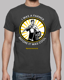 I was a farmer before it was cool - camiseta chico