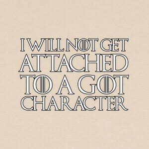 Camisetas I will never get attached