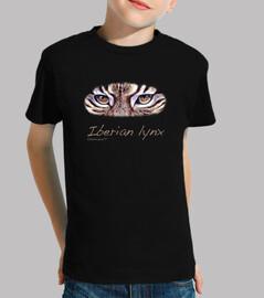 Iberian lynx negra niño / niña
