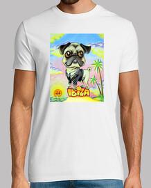 Ibiza Pug Cartoon