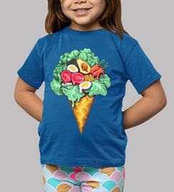 ice cream mixed salad