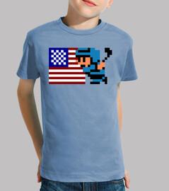 Ice Hockey USA 8 Bits (Camiseta Niño)