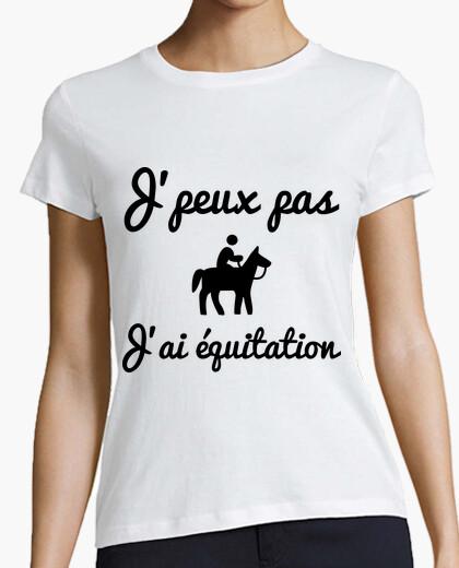 T-Shirt ich kann nicht ich reiten - pferd