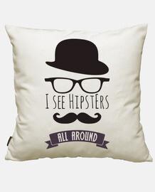 ich sehe hipsters rundum