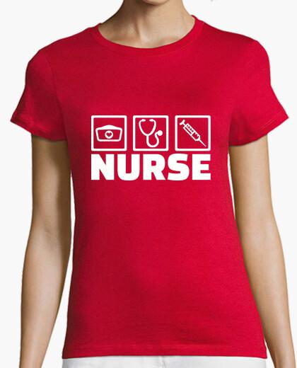 Tee-shirt icônes de travail infirmière