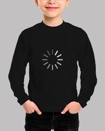 ícono de carga geek camiseta para niños