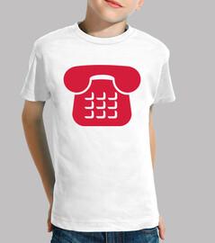 icono de teléfono rojo