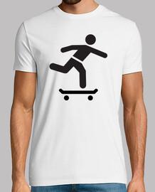 icono del logotipo skater