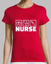 iconos de trabajo de enfermera