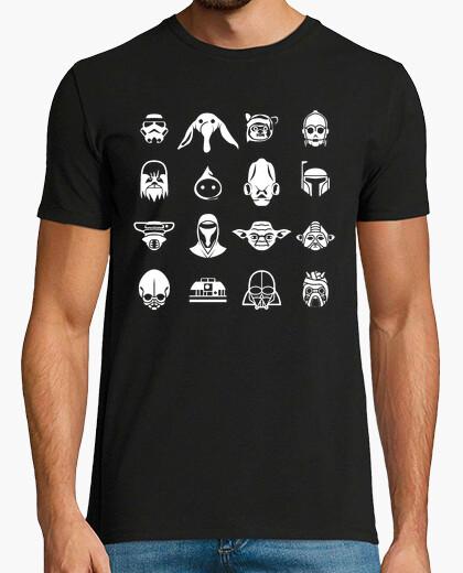 Camiseta Iconos Star Wars (fondo oscuro)