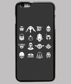 Iconos Star Wars (fondo oscuro)