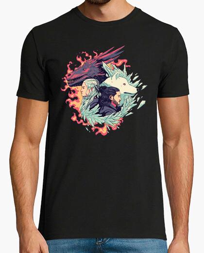 T-shirt il drago e il lupo
